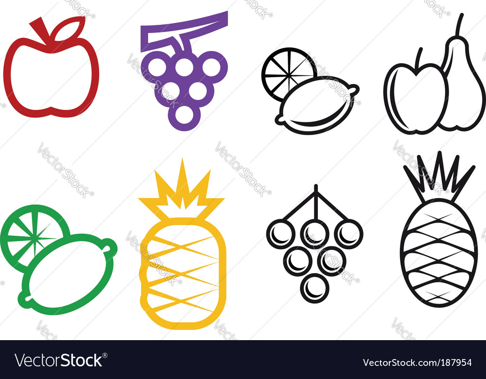 Fruit symbols vector | Price: 1 Credit (USD $1)