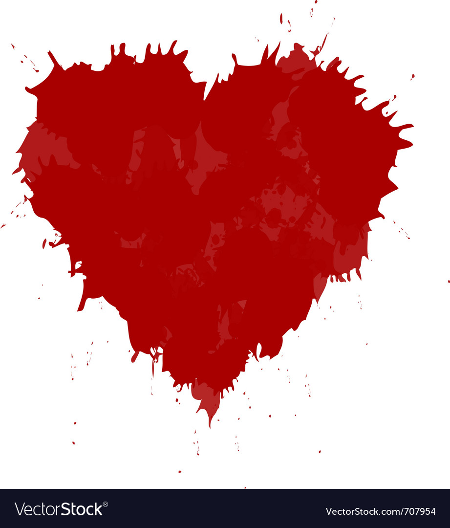 Grunge heart vector | Price: 1 Credit (USD $1)