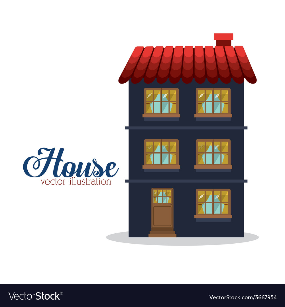 House design vector | Price: 1 Credit (USD $1)
