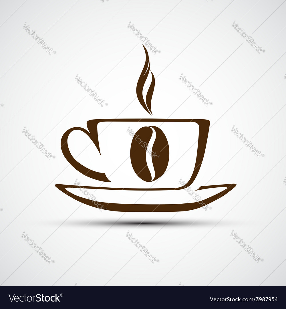 Icons to a cup of coffee vector | Price: 1 Credit (USD $1)