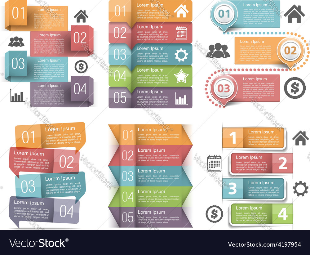 Infographic elements with numbers vector   Price: 1 Credit (USD $1)