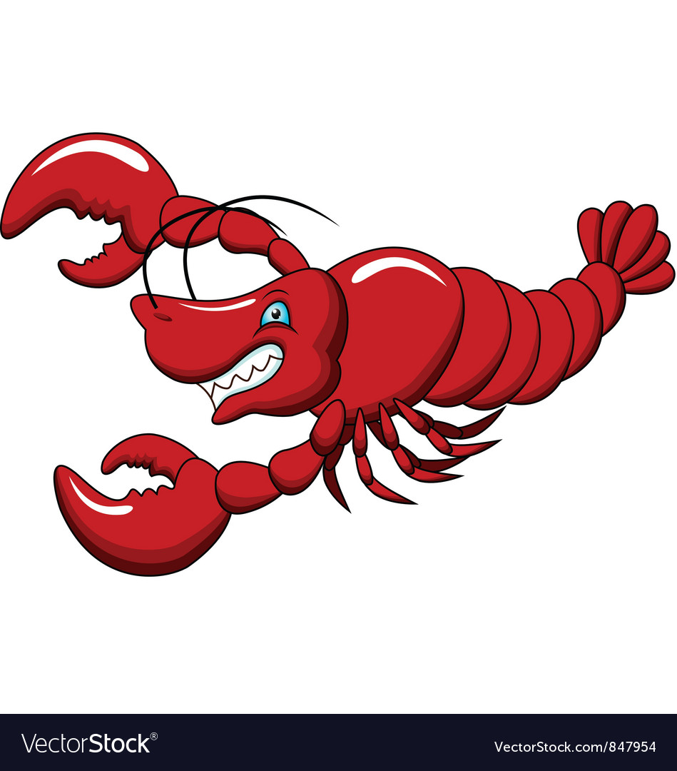Lobster cartoon vector | Price: 1 Credit (USD $1)