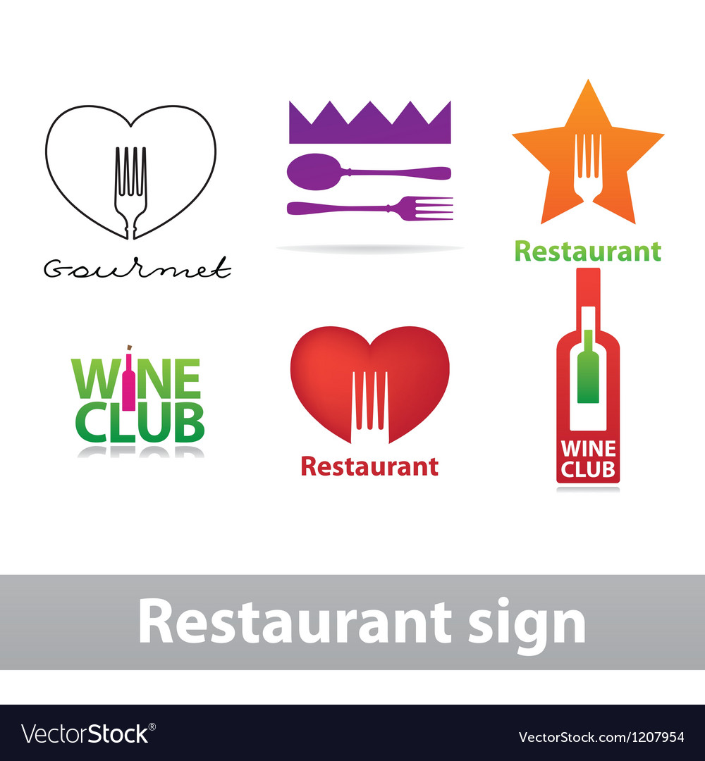Restaurant sign vector | Price: 1 Credit (USD $1)