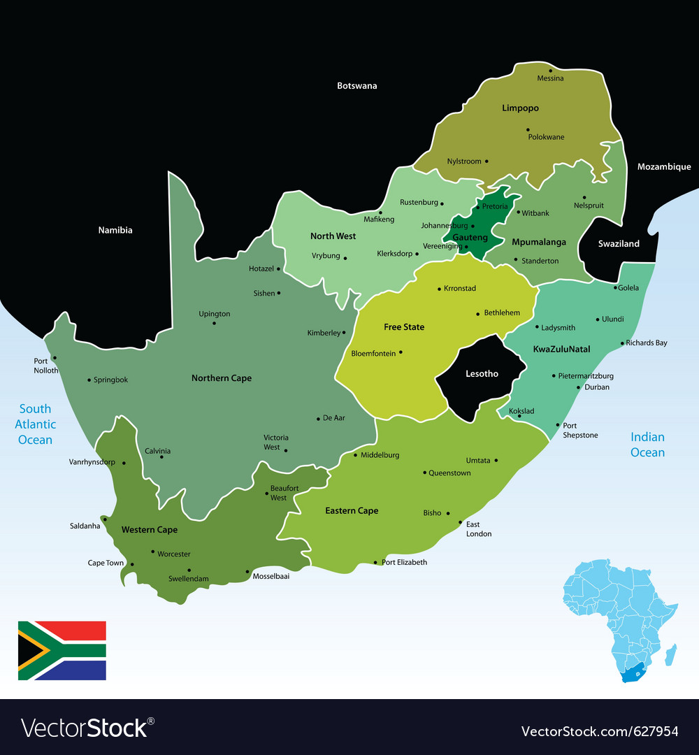 South africa vector | Price: 1 Credit (USD $1)