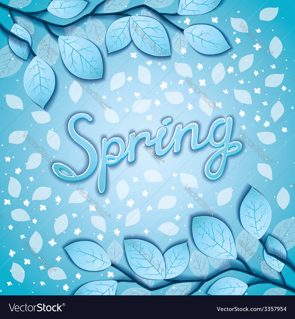 Spring awakening poster vector | Price: 1 Credit (USD $1)