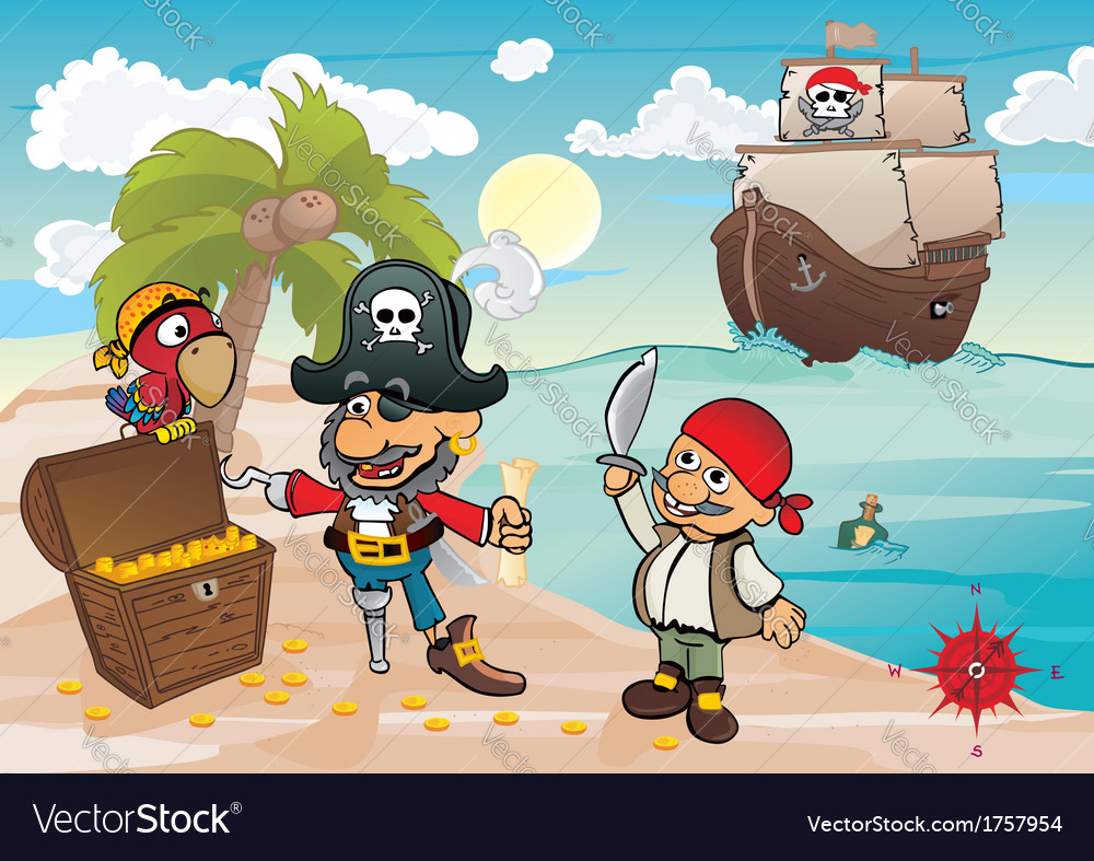 Treasure island vector | Price: 3 Credit (USD $3)