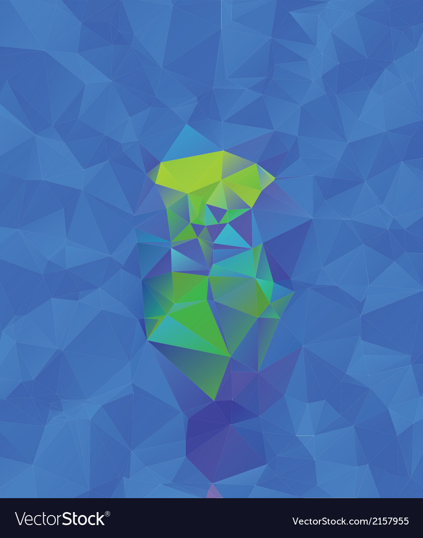 Abstract blue geometric background vector | Price: 1 Credit (USD $1)