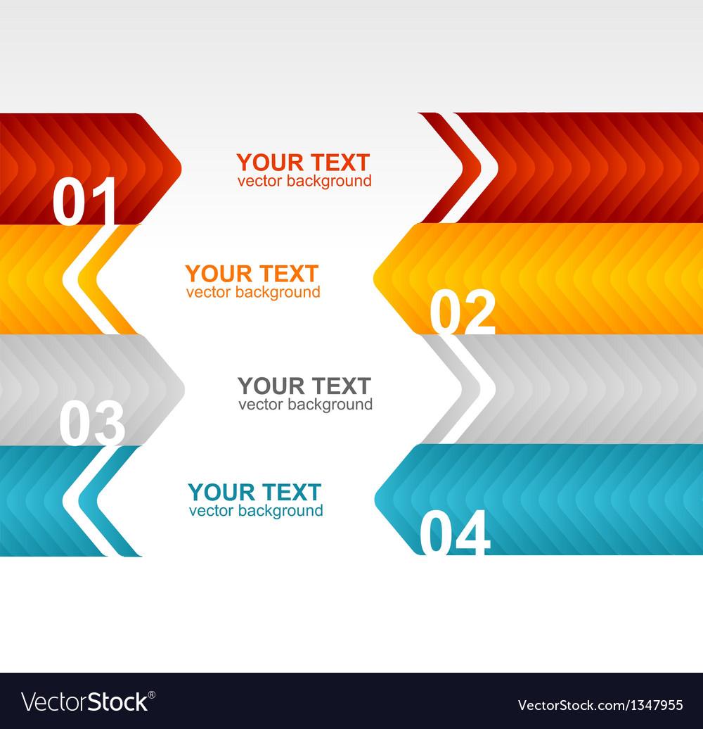 Arrow speech templates for text 1 2 3 4 vector | Price: 1 Credit (USD $1)
