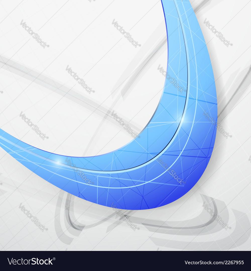 Blue wave folder futuristic concept vector | Price: 1 Credit (USD $1)