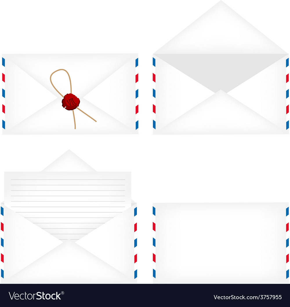 Envelope set vector | Price: 1 Credit (USD $1)