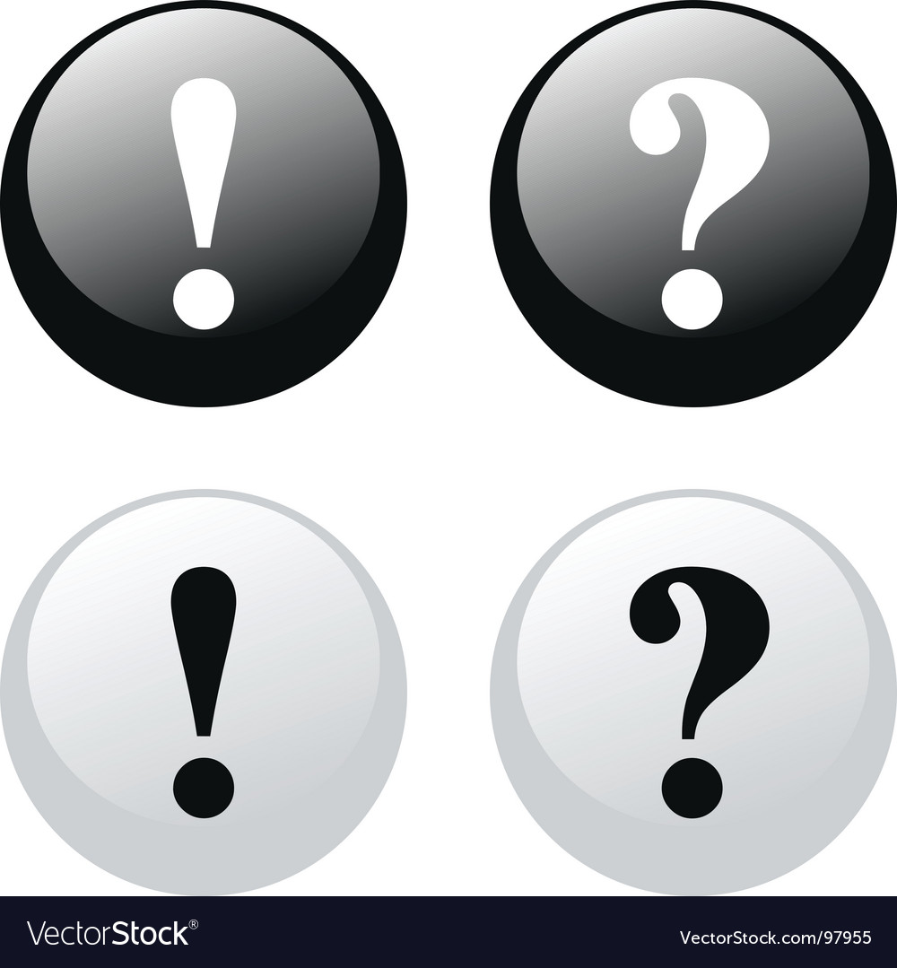 Exclamation question buttons vector | Price: 1 Credit (USD $1)