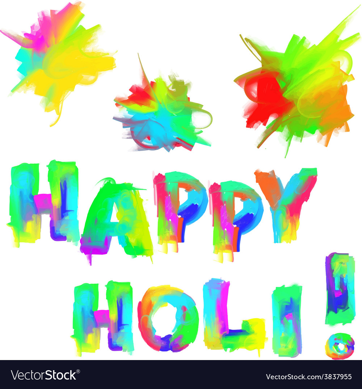 Happy holi vector | Price: 1 Credit (USD $1)