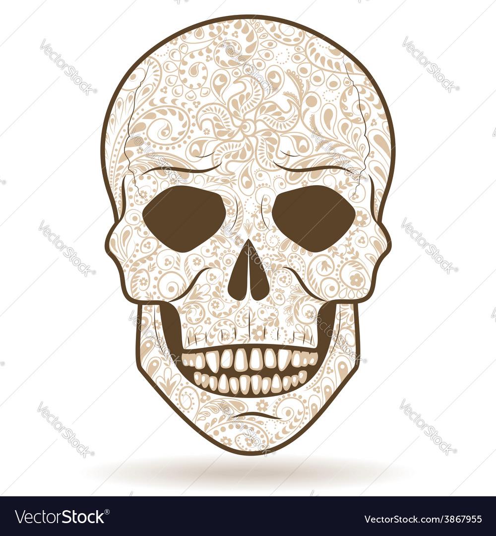 Skull pattern vector | Price: 1 Credit (USD $1)