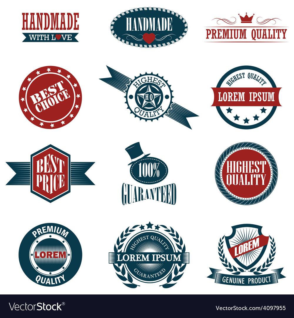 Vintage labels set design elements vector   Price: 1 Credit (USD $1)