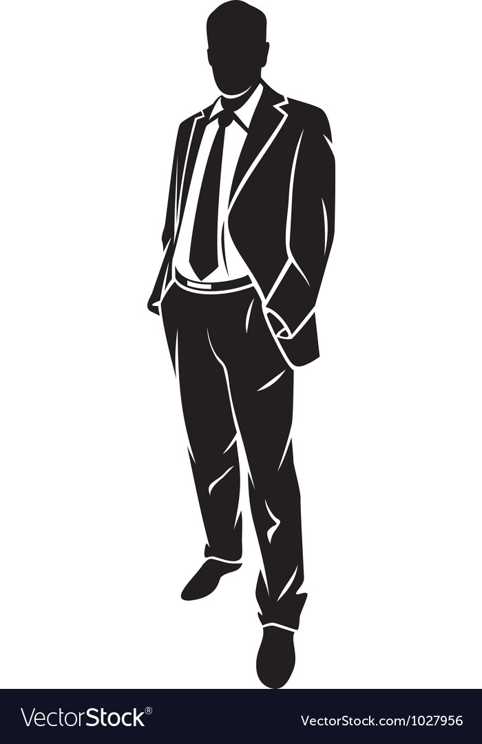 A standing businessman vector | Price: 1 Credit (USD $1)