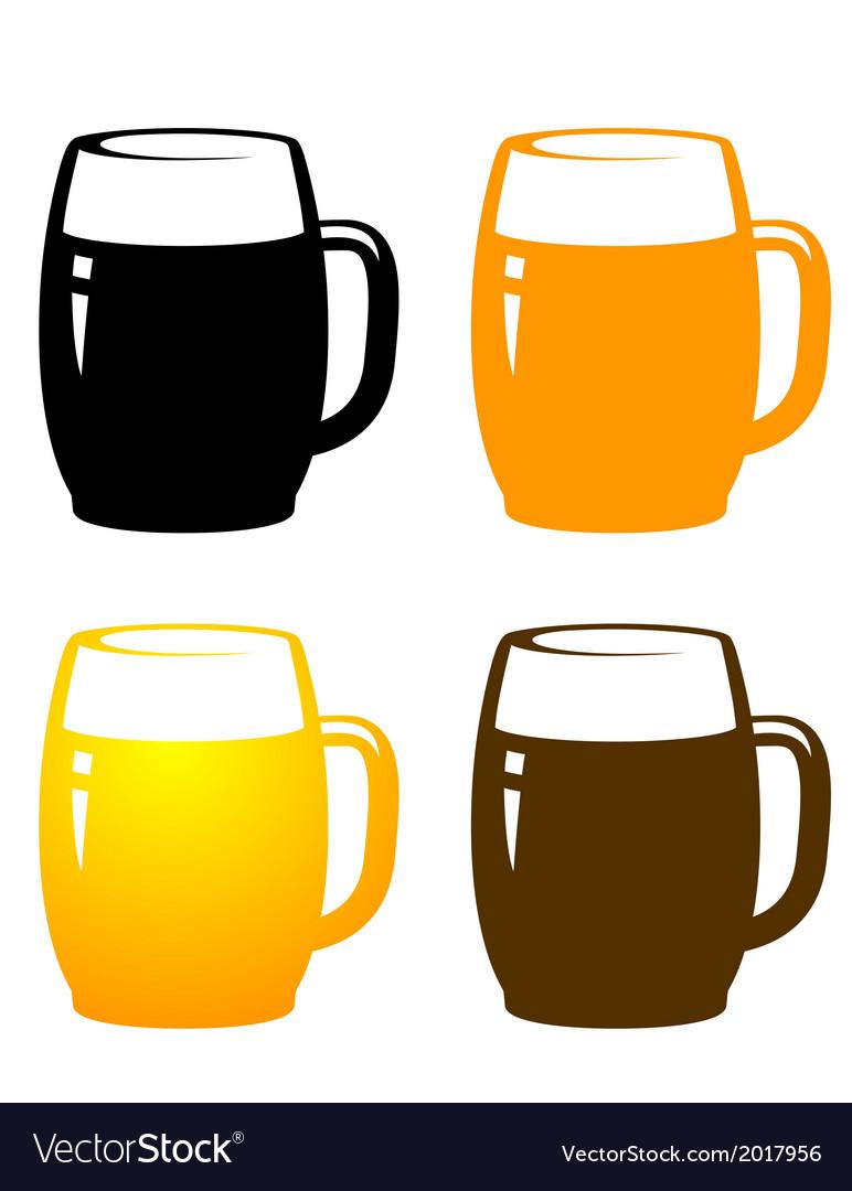 Beer mugs vector | Price: 1 Credit (USD $1)