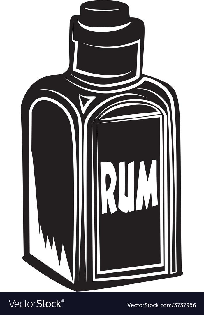 Bottle of rum vector | Price: 1 Credit (USD $1)