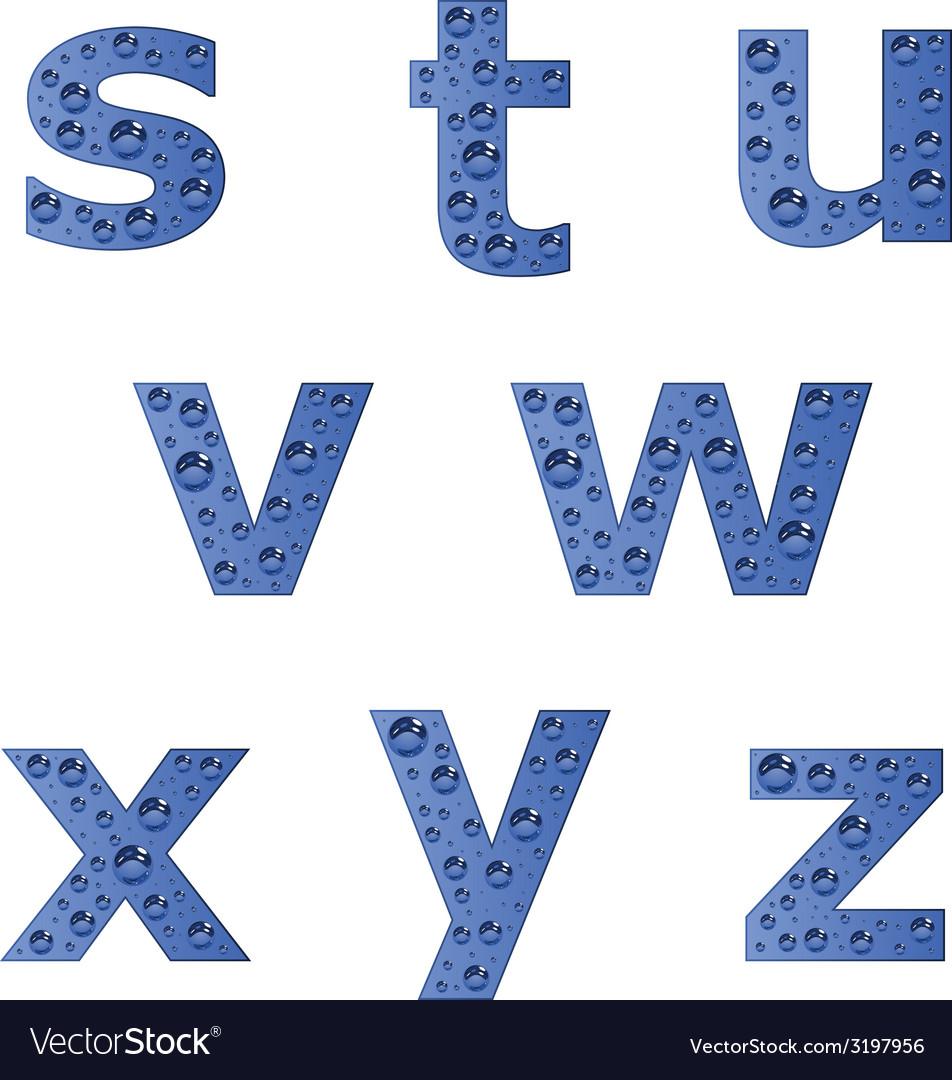 Bubble alphabet - part 3 vector | Price: 1 Credit (USD $1)