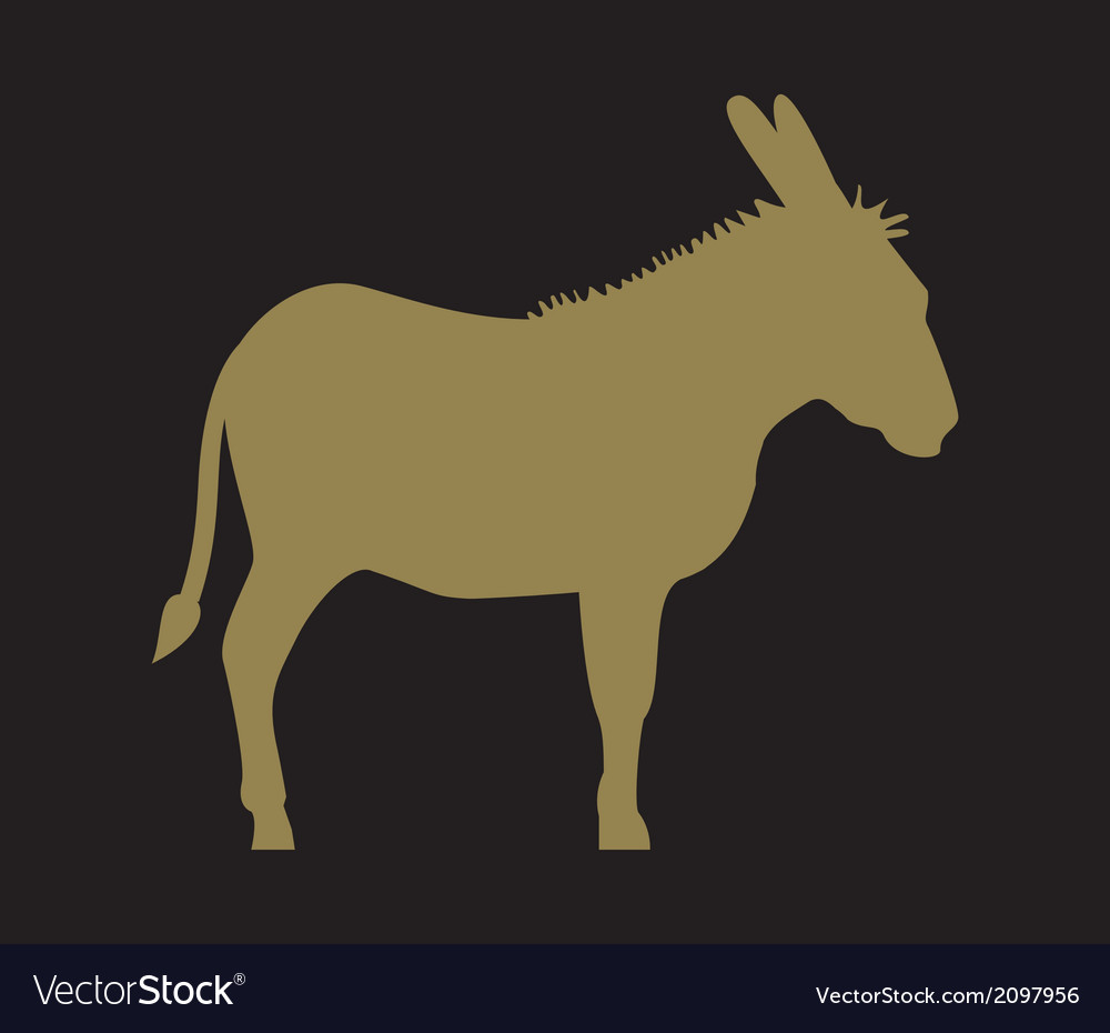 Donkey silhouette vector | Price: 1 Credit (USD $1)