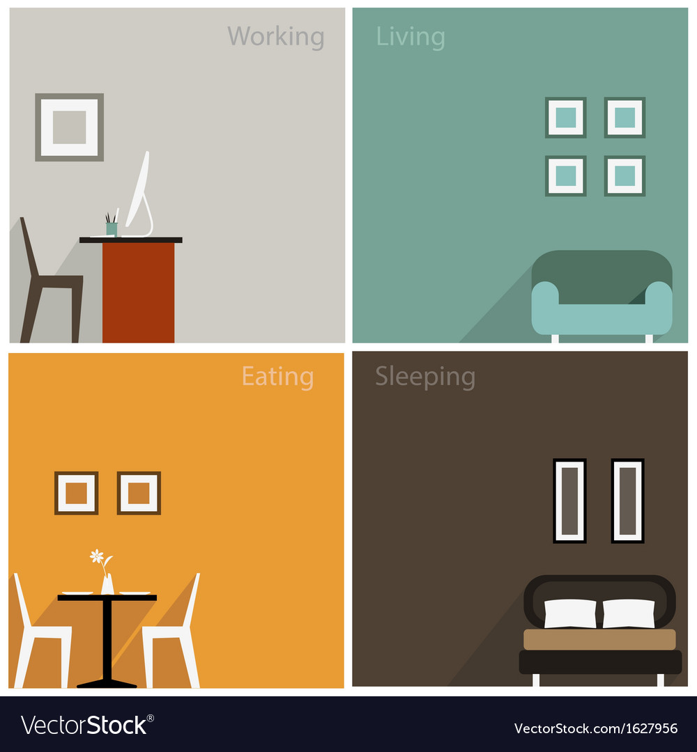 Interior concept of graphic collection design vector | Price: 1 Credit (USD $1)
