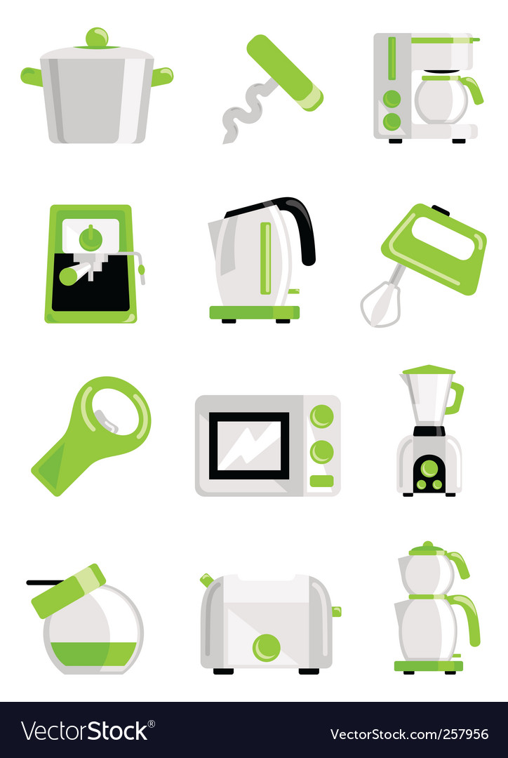 Kitchen object set vector | Price: 1 Credit (USD $1)