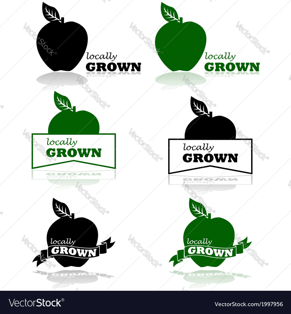 Locally grown vector | Price: 1 Credit (USD $1)