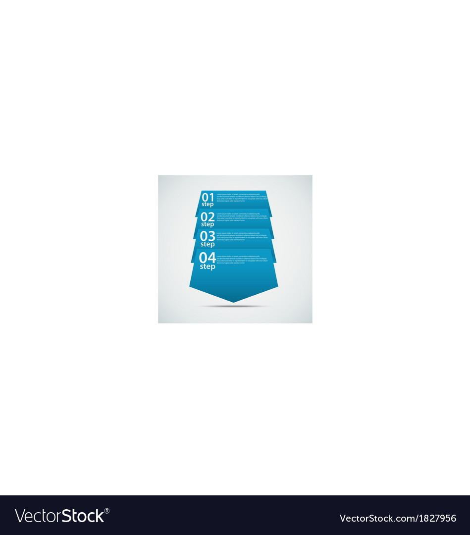 Origami arrow progress template vector | Price: 1 Credit (USD $1)