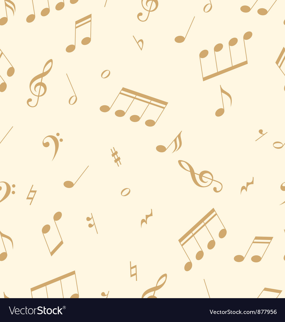 Seamless abstract pattern with music symbols vector | Price: 1 Credit (USD $1)