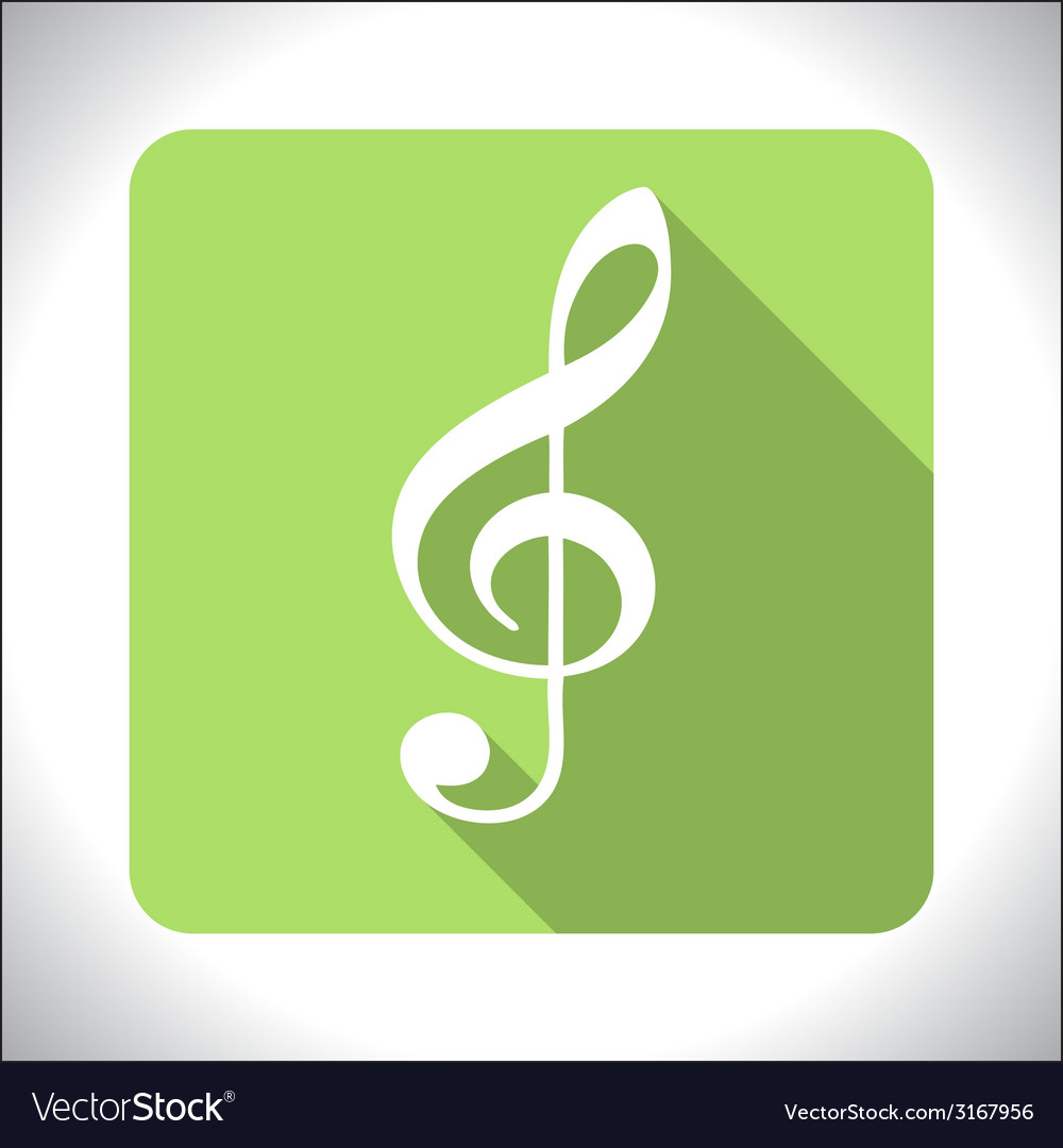 Treble clef icon vector | Price: 1 Credit (USD $1)