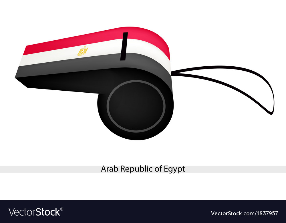 A whistle of arab republic of egypt vector | Price: 1 Credit (USD $1)