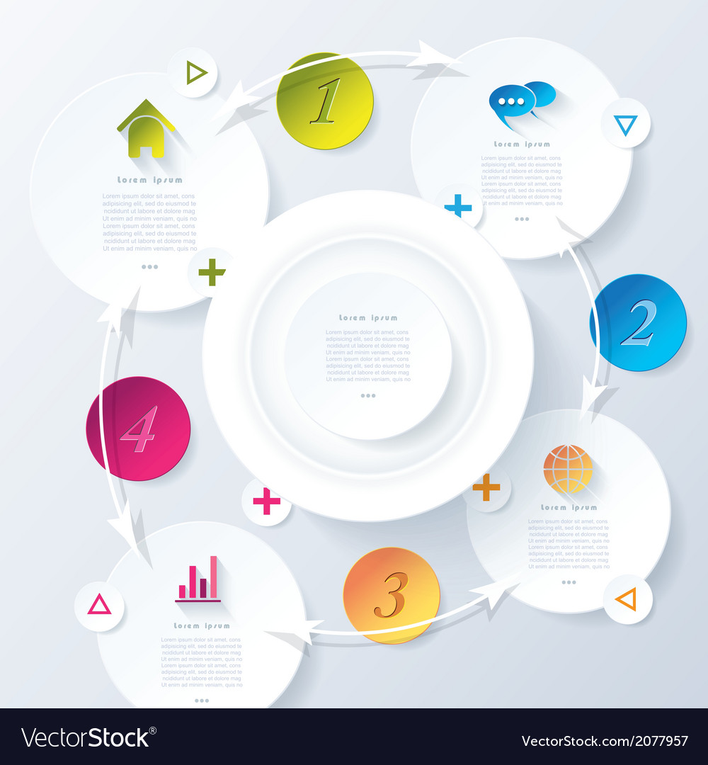 Modern abstract design infographic vector | Price: 1 Credit (USD $1)
