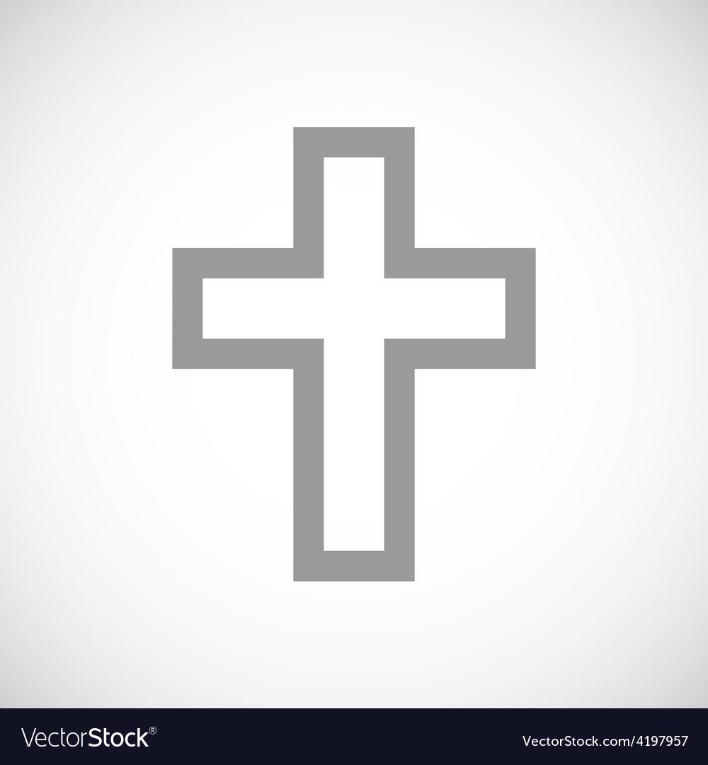 Protestant cross black icon vector | Price: 1 Credit (USD $1)