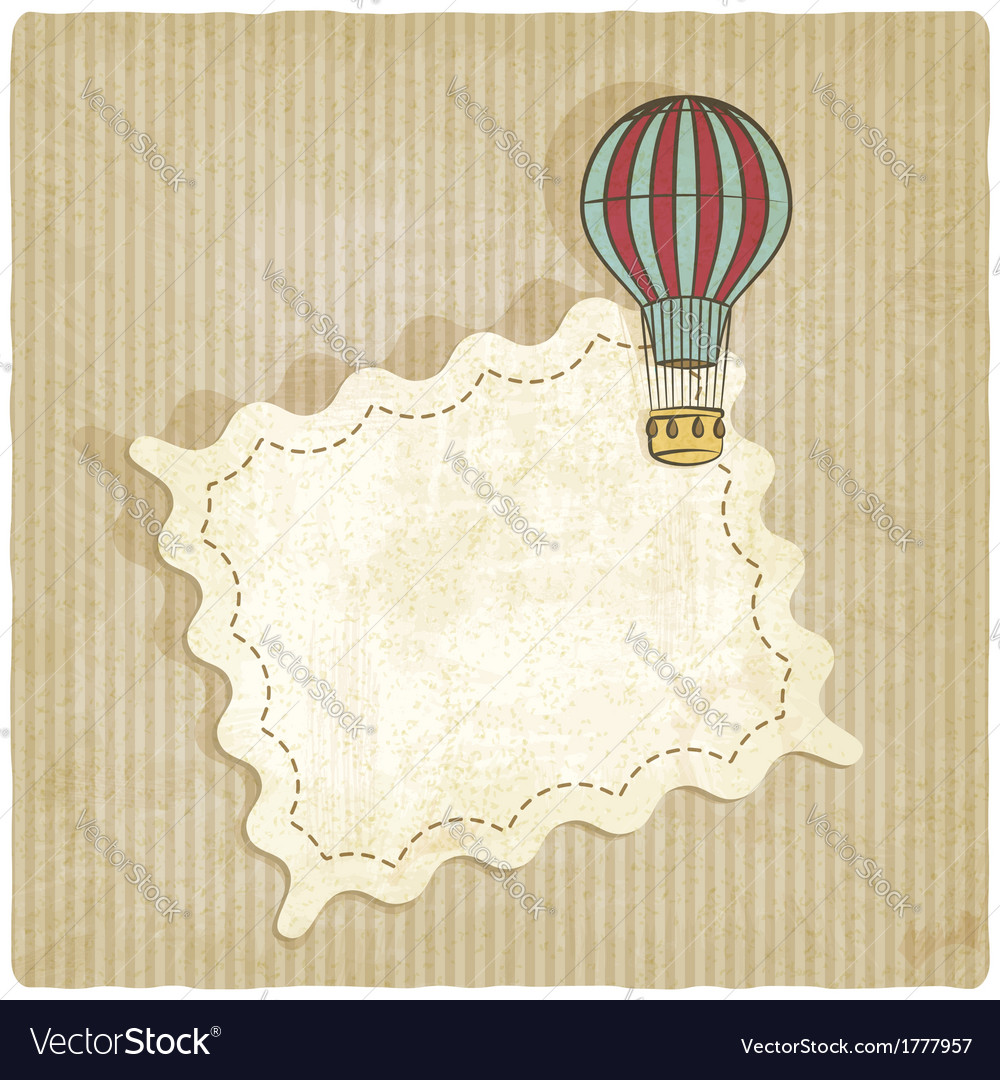 Retro background with air balloon vector | Price: 1 Credit (USD $1)
