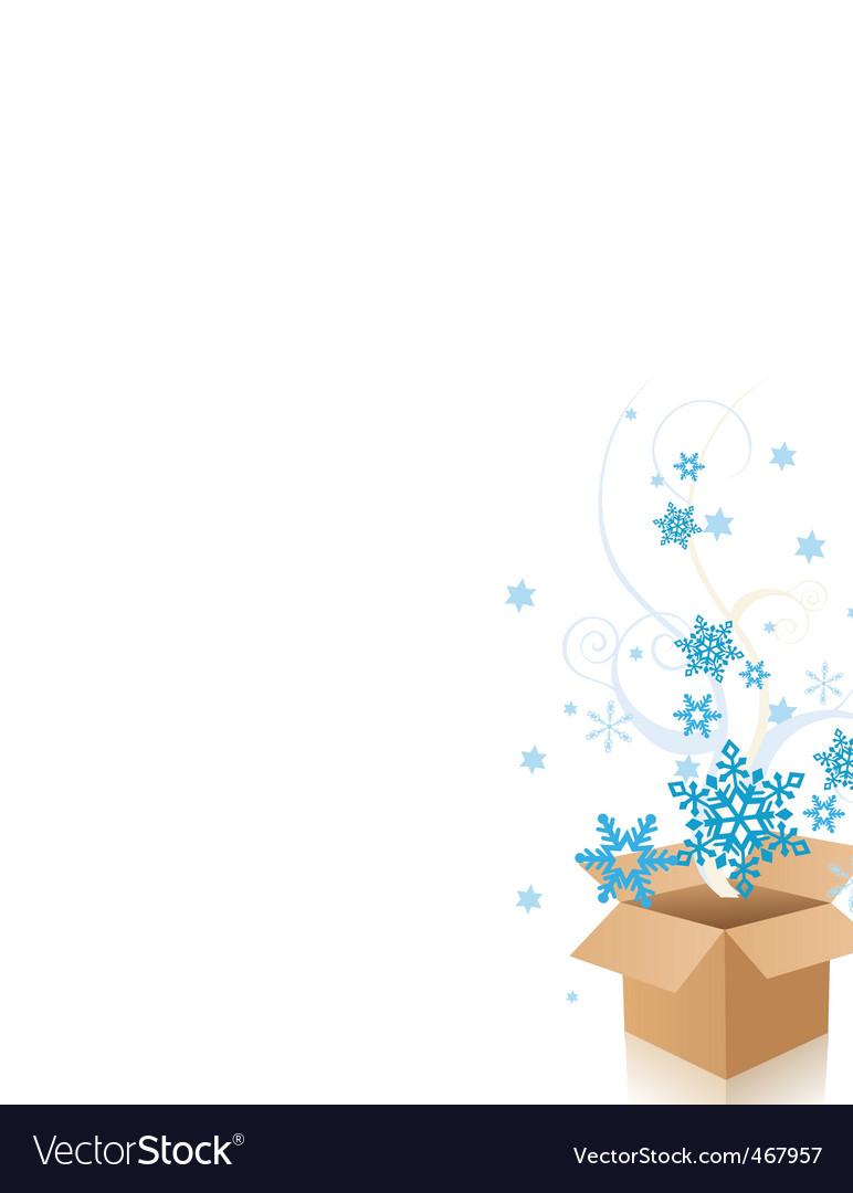 Snowflake box vector | Price: 1 Credit (USD $1)
