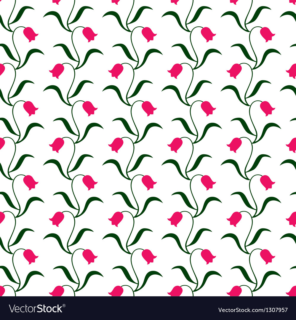 Tulip pattern vector | Price: 1 Credit (USD $1)