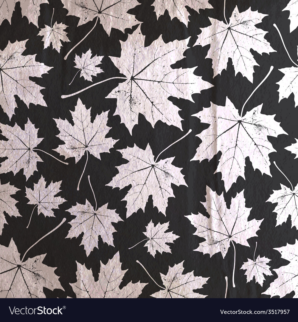 Vintage floral background with maple leaves on the vector | Price: 1 Credit (USD $1)