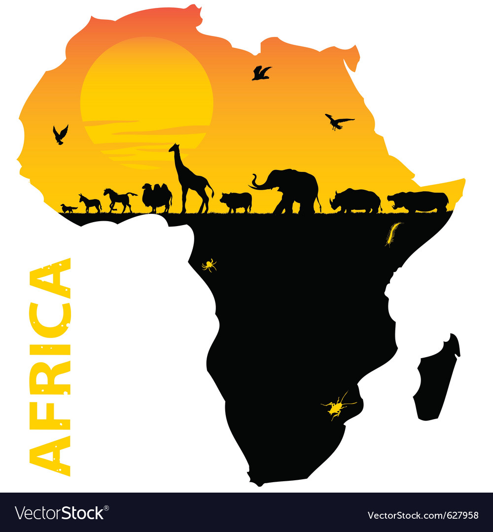 African map vector | Price: 1 Credit (USD $1)
