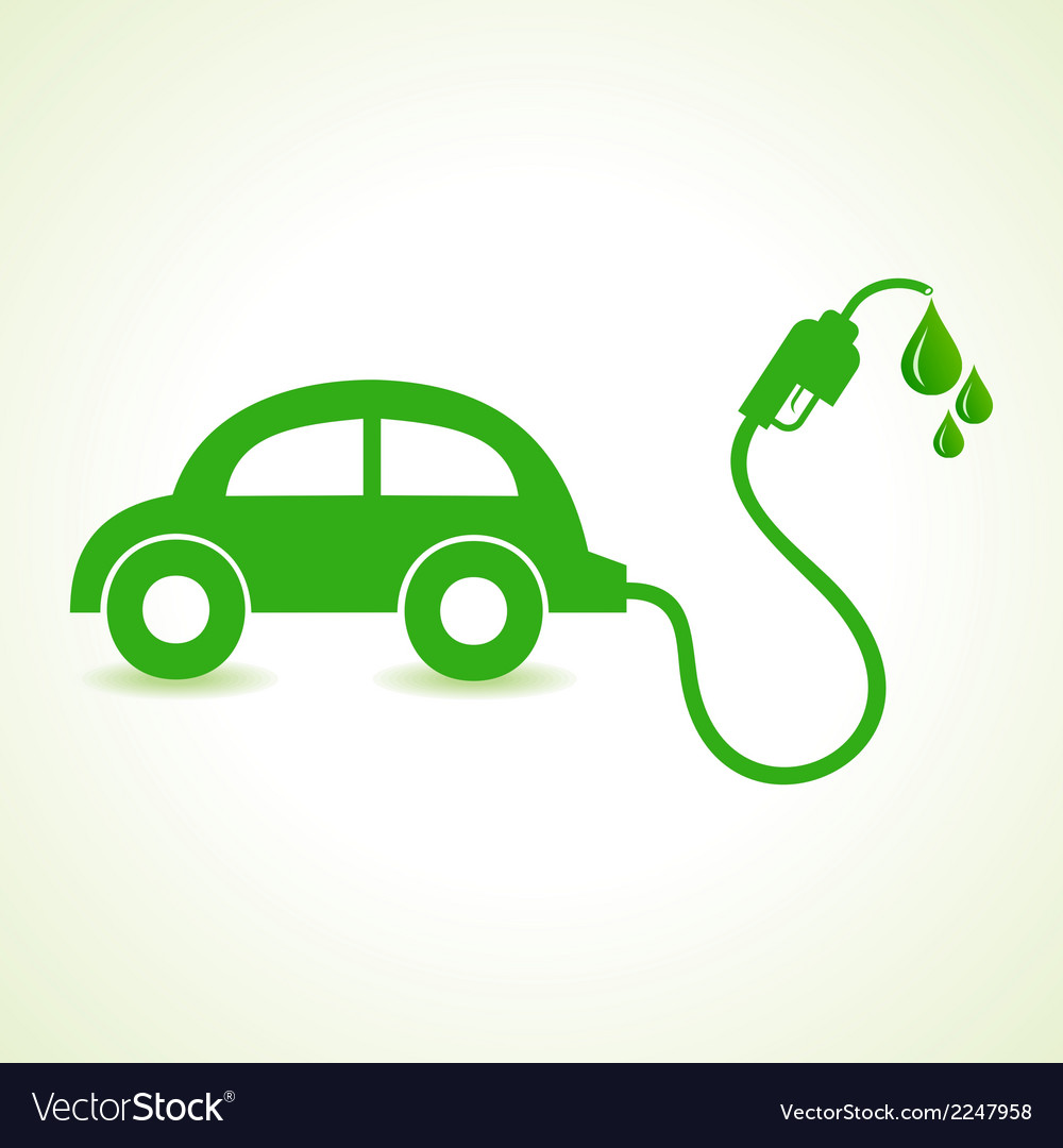 Bio fuel concept with car vector | Price: 1 Credit (USD $1)
