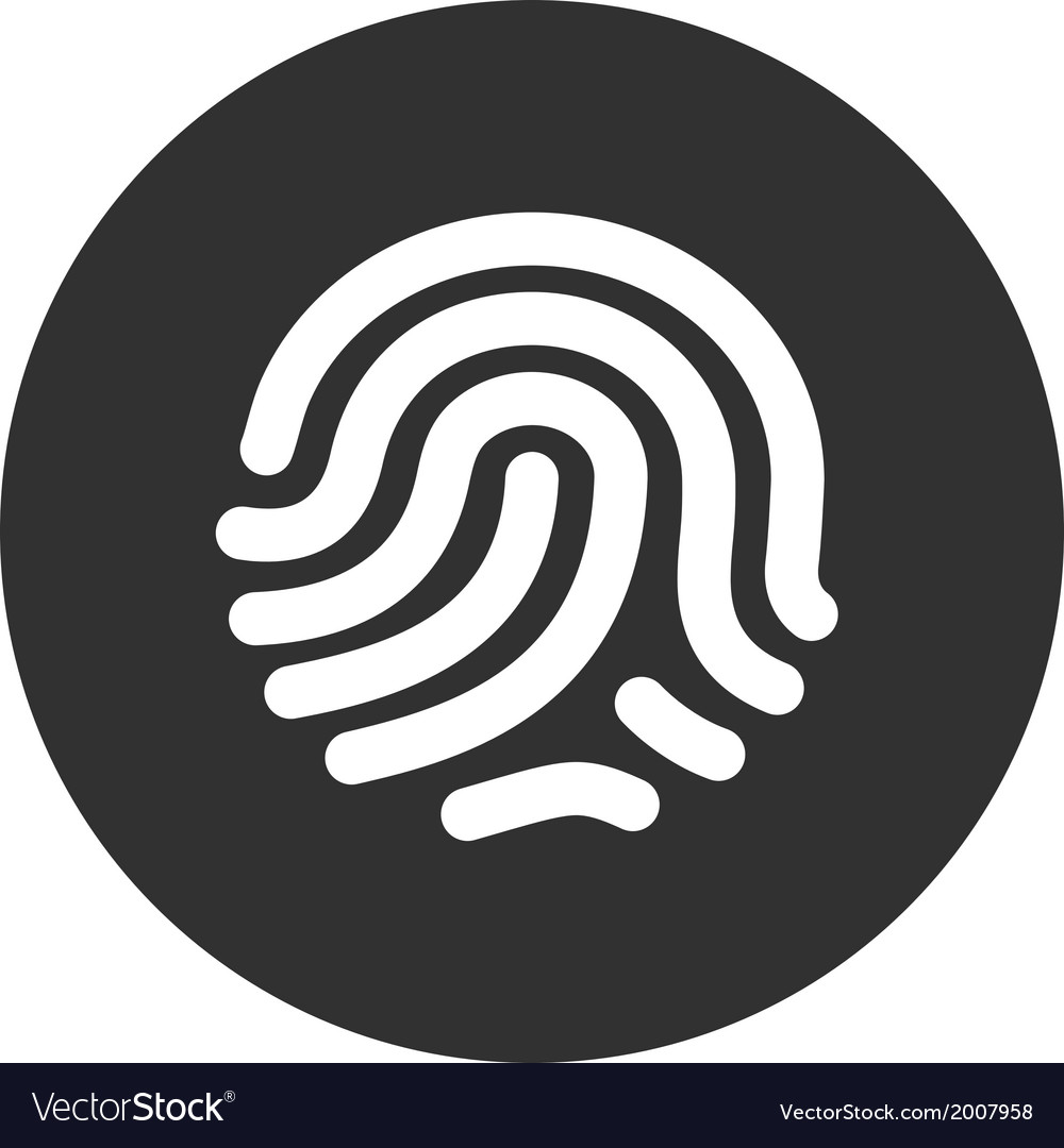 Fingerprint identification system vector | Price: 1 Credit (USD $1)