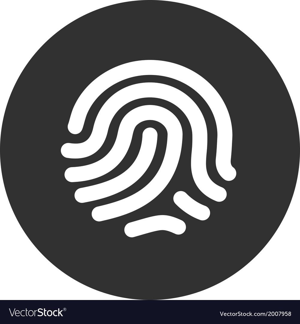 Fingerprint identification system vector | Price: 1 Credit (USD $1)