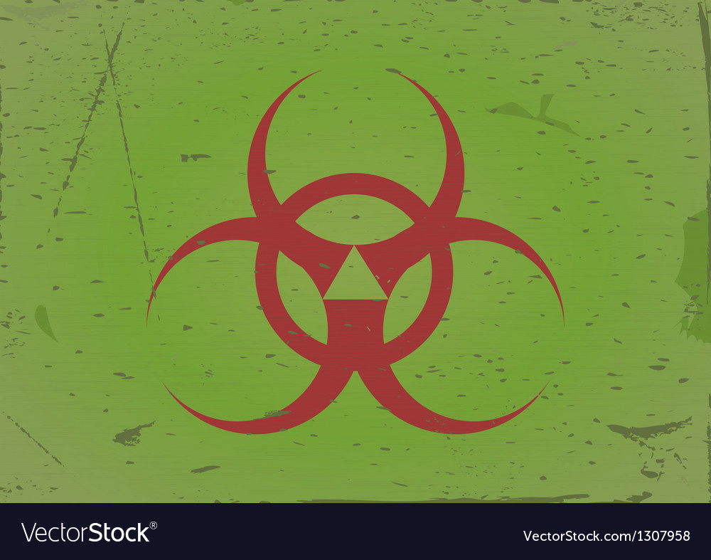 Grunge background biohazard vector | Price: 1 Credit (USD $1)