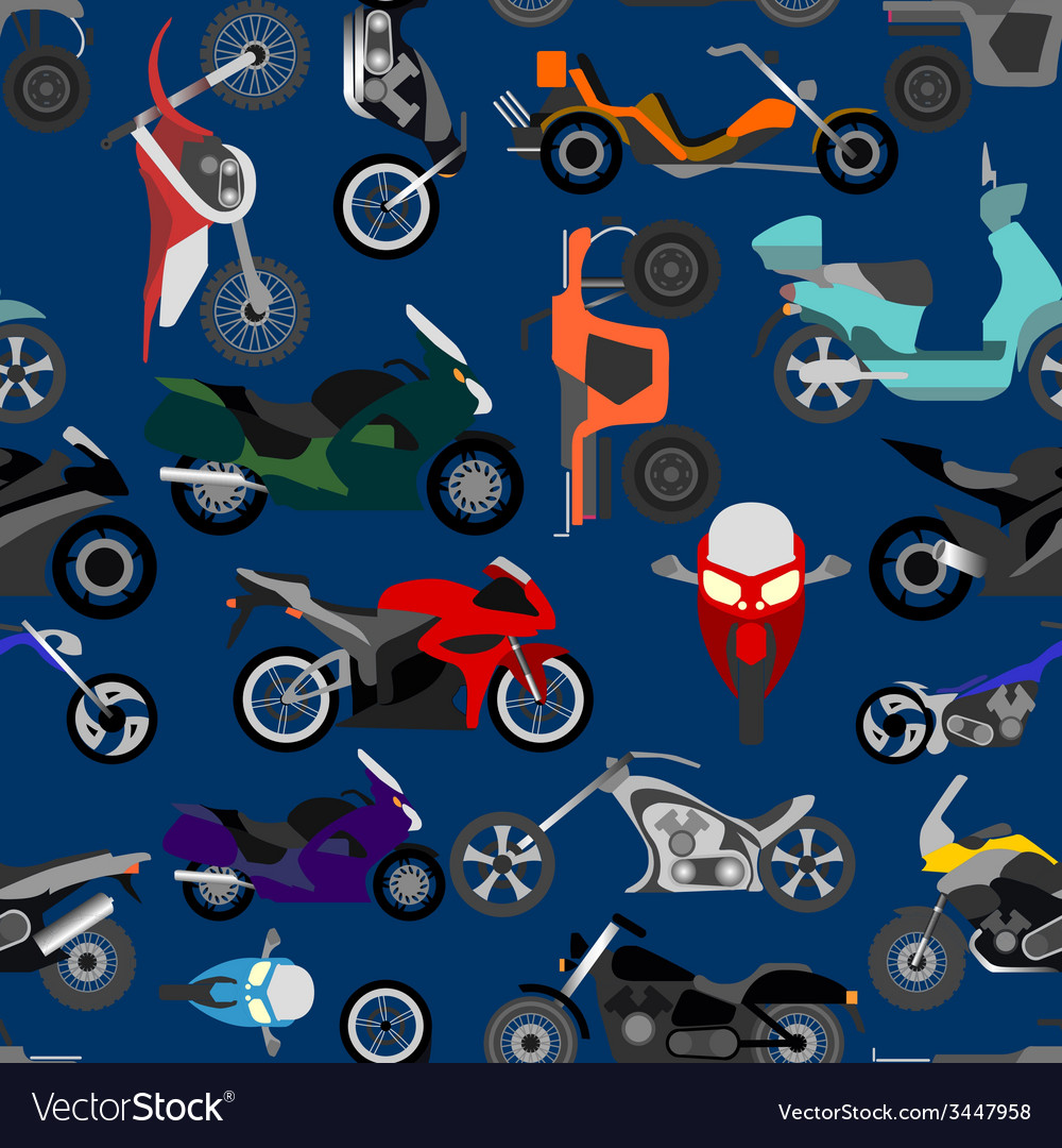 Motorcycles background seamless vector | Price: 1 Credit (USD $1)