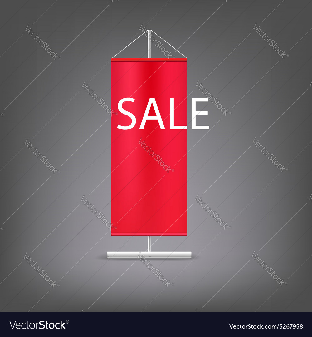 Sale banner red advertising stand vector | Price: 1 Credit (USD $1)