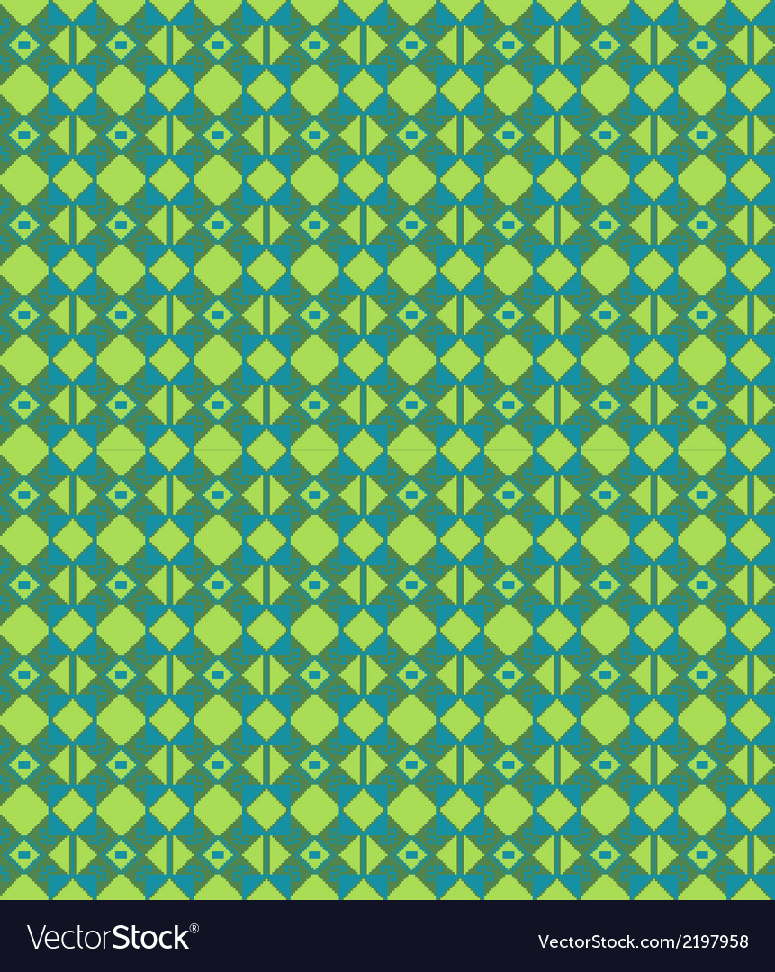 Seamless modern pattern with folk elements vector | Price: 1 Credit (USD $1)