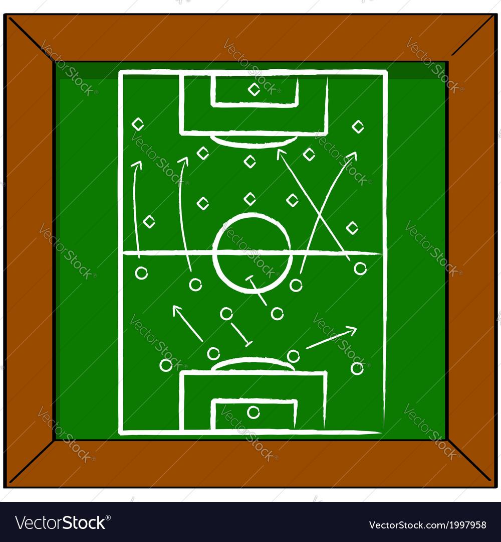 Soccer tactics vector | Price: 1 Credit (USD $1)