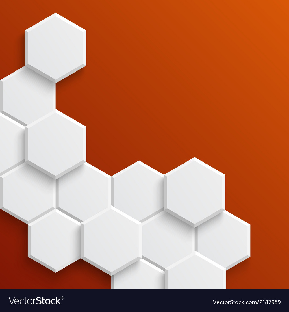 Abstract hexagonal background vector   Price: 1 Credit (USD $1)