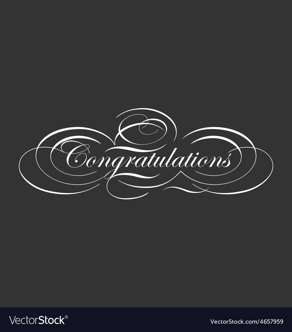 Decorative congratulations typography vector   Price: 1 Credit (USD $1)