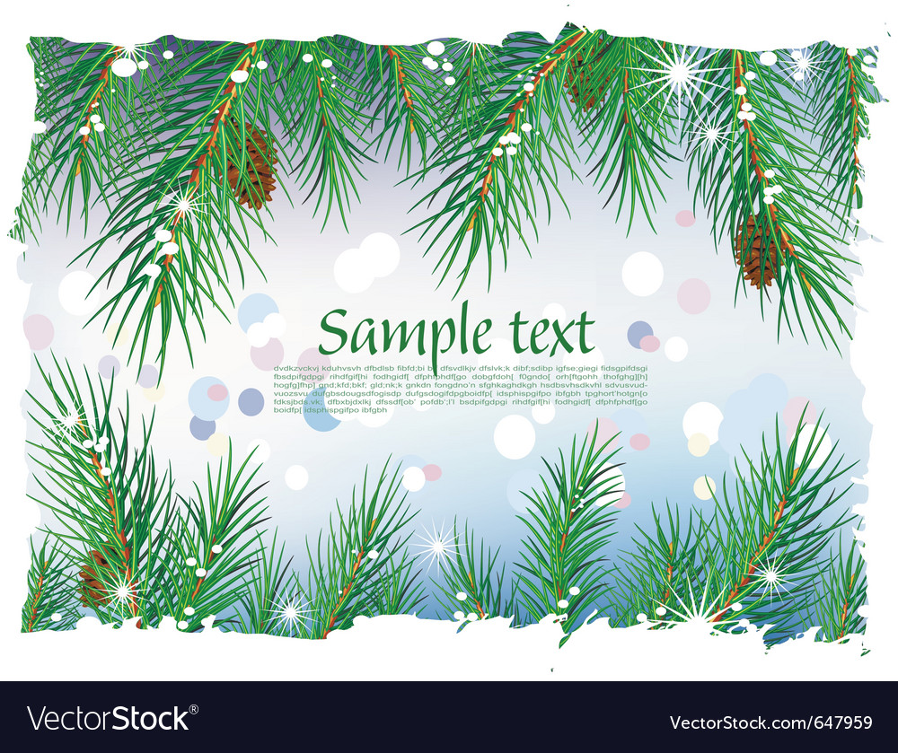 Framework from pine branches vector | Price: 1 Credit (USD $1)