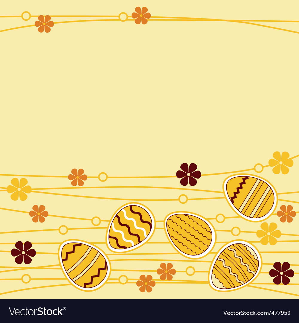 Greeting card with easter eggs vector | Price: 1 Credit (USD $1)