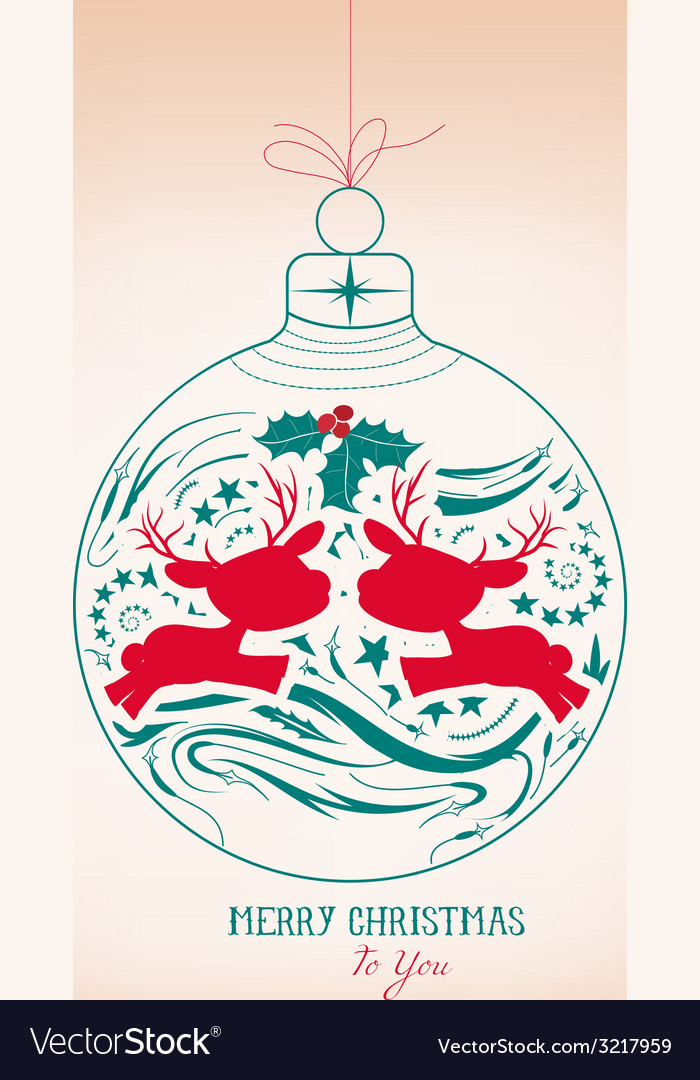 Merry christmas ornament vector | Price: 1 Credit (USD $1)